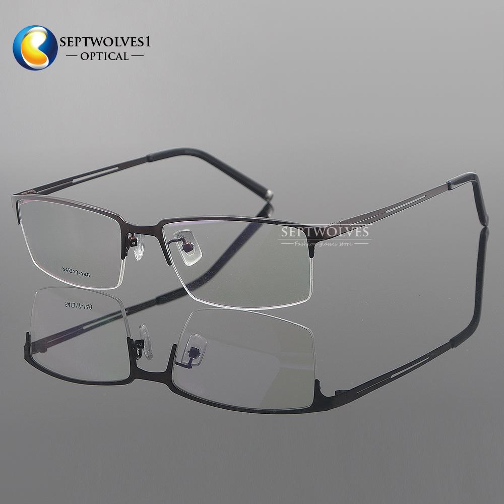 Men\'s Titanium Half Rimless Eyeglasses Frame RX Optical Spectacles ...