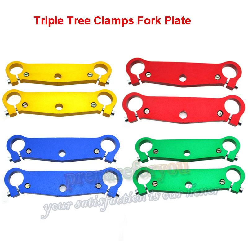 Triple Tree Clamps Fork Plate For 47cc 49cc Mini Pocket Bike A1 A2 A3 MTA1 MTA2