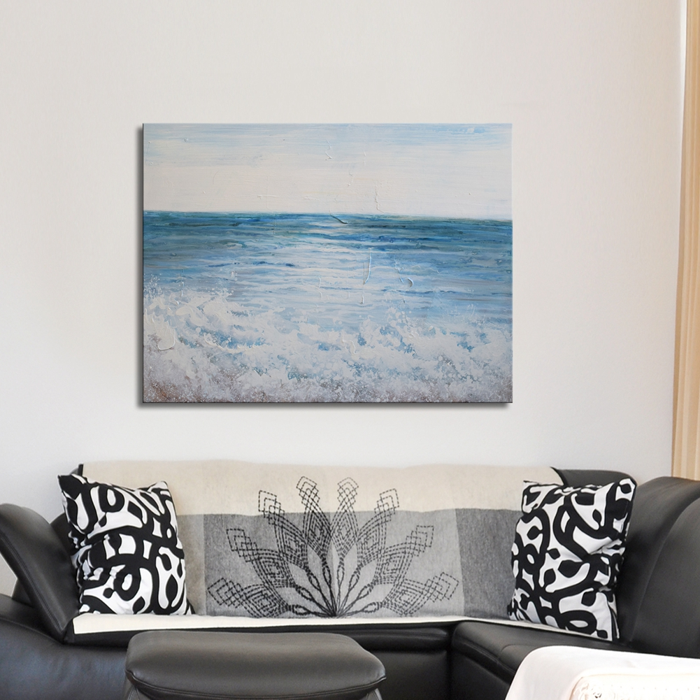 Framed Artwork Painting Prints with Hand Painted Texture \'Vast Ocean ...