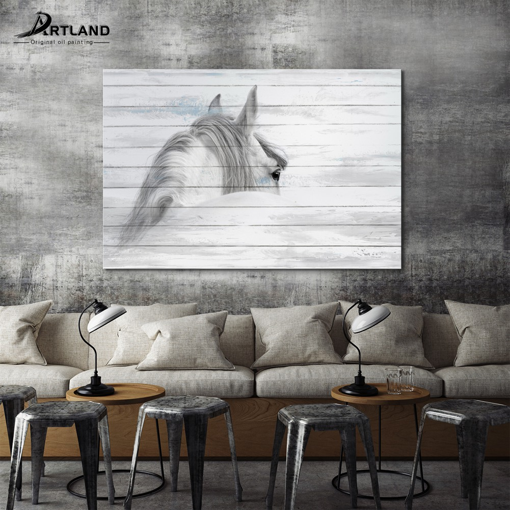 Giclee Canvas Prints Framed Canvas Artwork \'Glance Back from Horse ...
