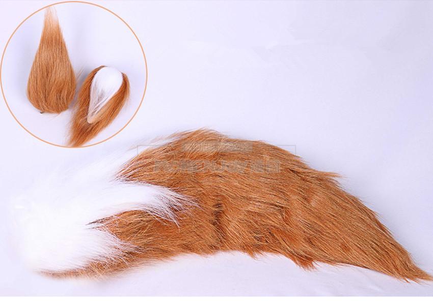Anime Fate//Grand Order FGO Tamamo no Mae Fox Tail Ear Cosplay Props Accessories