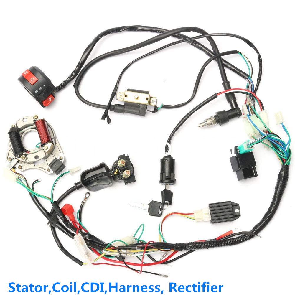 Details about Stator Wiring Harness set for 50 70 90 110 125cc Quad on sunl wiring diagram, nissan wiring diagram, falcon 110 wiring diagram, evinrude wiring diagram, hunter wiring diagram, kawasaki wiring diagram, toyota wiring diagram, kia wiring diagram, dodge wiring diagram, international wiring diagram, bajaj wiring diagram, freightliner wiring diagram, 110cc 4 wheeler wiring diagram, viking wiring diagram, chevrolet wiring diagram, electrical outlet wiring diagram, smc wiring diagram, jeep wiring diagram, honda wiring diagram, new holland wiring diagram,