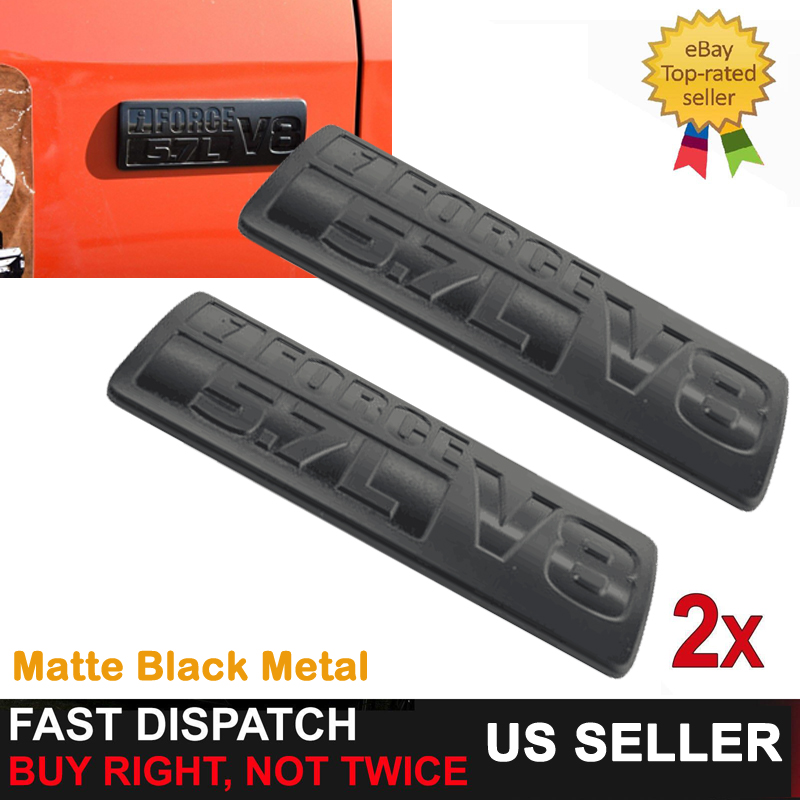 8pcs TOYOTA TUNDRA Emblem Set iForce V8 5.7L Fender Trunk Matte Black Badge