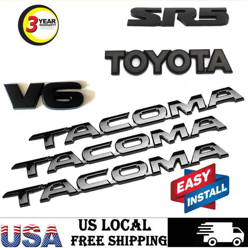 For 2016-2018  Tacoma Tag MATTE Black Door Emblem Decal Badge Nameplate