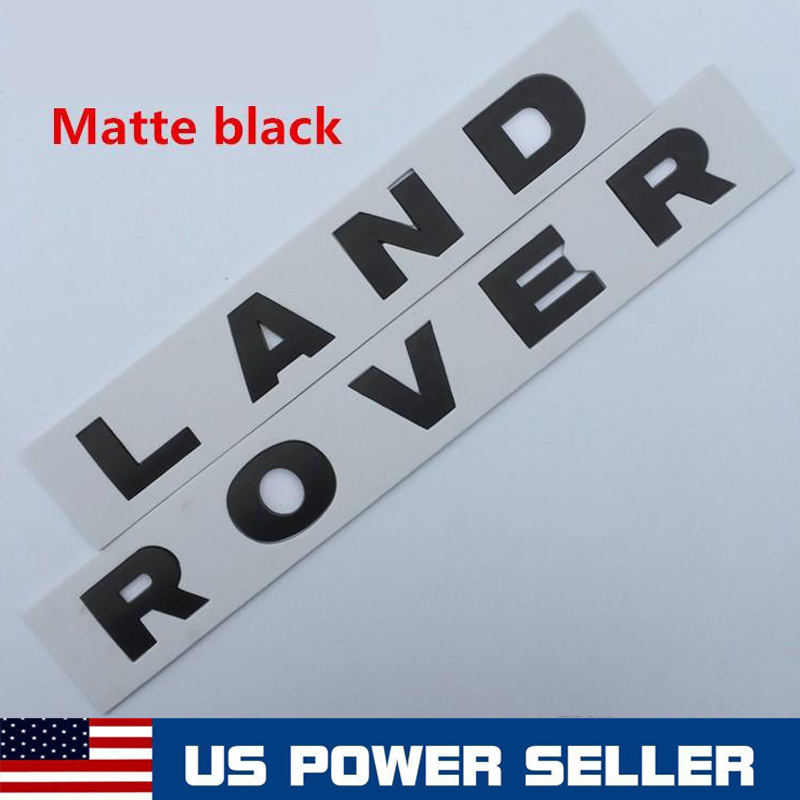 Matte Black Land Rover LR3 HSE Lettering Badge Emblem