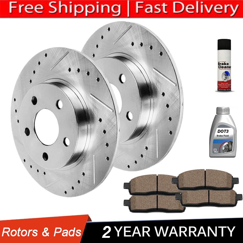 Front + Rear Rotors w//Metallic Pad OE Brakes 03 04 05 06 07 Accord