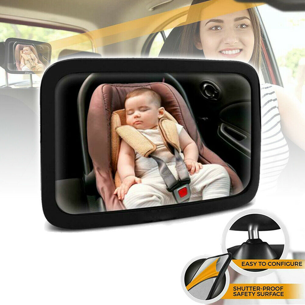 Large Wide Baby Children Car Safety Back Seat Mirror Rear View Easily Adjustable