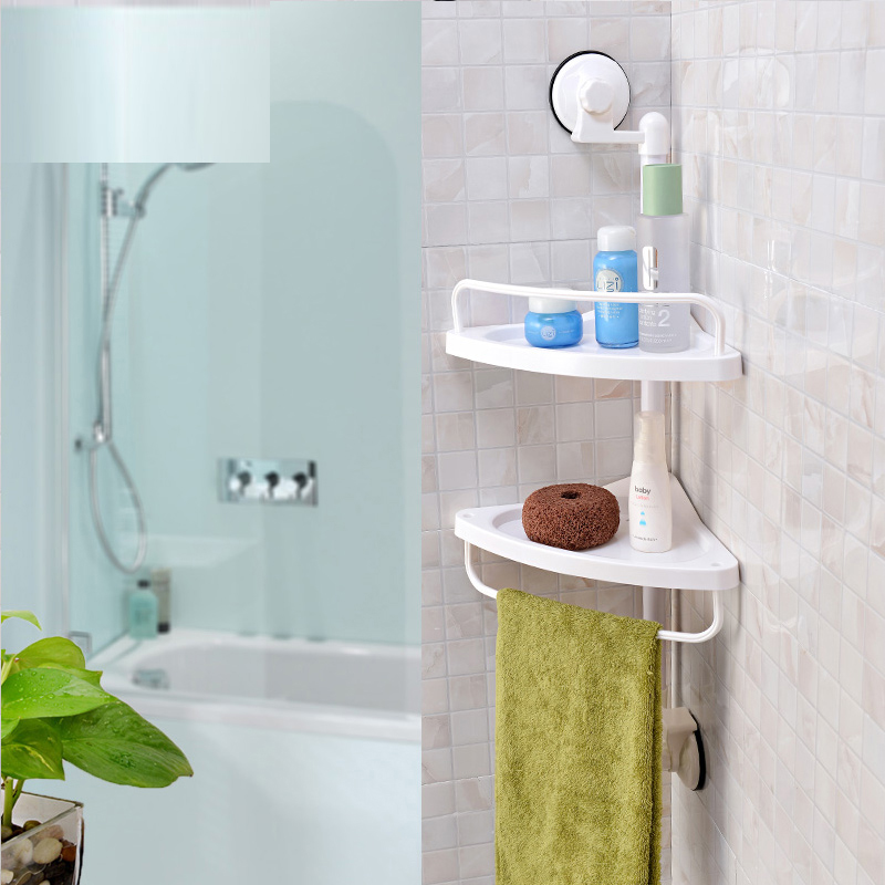 2Tier Bathroom Bathtub Shower Caddy Holder Corner Rack Shelf ...
