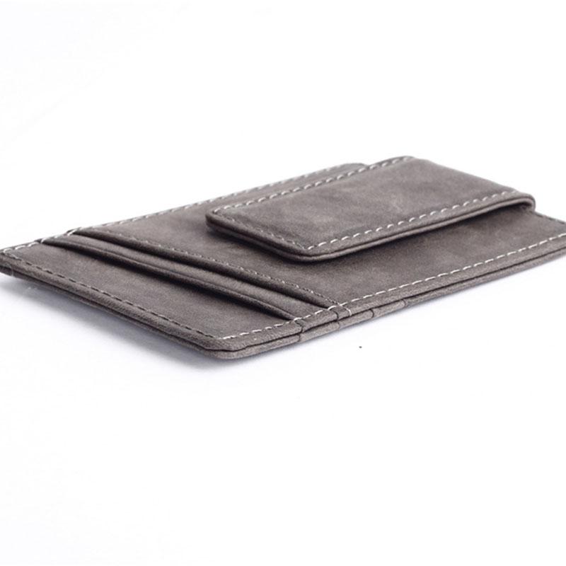 Slim-Men-s-Leather-Magnet-Wallet-Credit-Card-ID-Holder-Money-Clip-Front-Pocket thumbnail 19