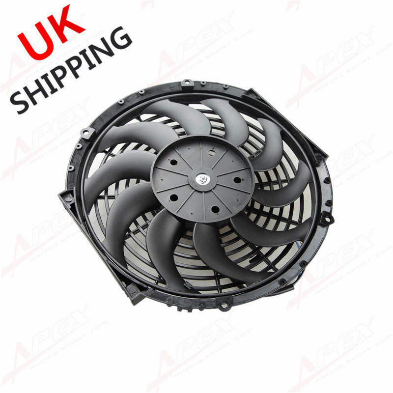 Universal 12 U0026quot  Radiator Electric Cooling Fan Curved S
