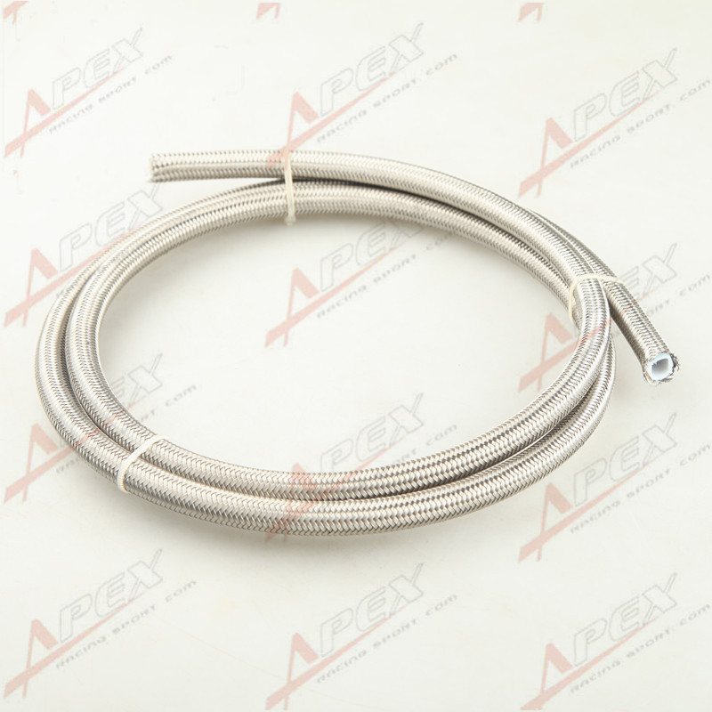 AN6 Black Stainless steel braided Teflon//PTFE hose Raceworks RWH-220-06