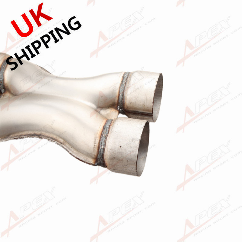 """UNIVERSAL ALUMINIZED STEEL EXHAUST CROSSOVER X PIPE 2.25/"""" 2 1//4/"""" IN/&OUTLET"""