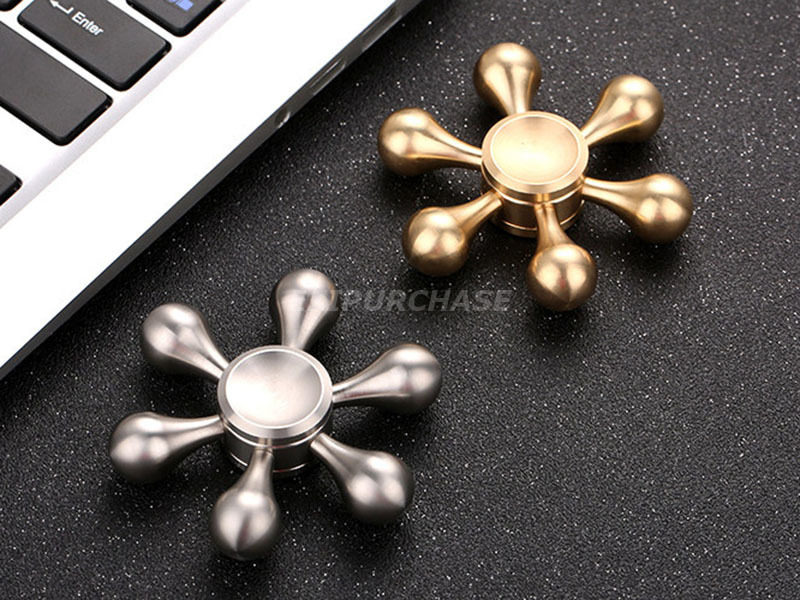 6 Point Stainless Steel Hand Spinner Fid Ceramic Ball Desk EDC