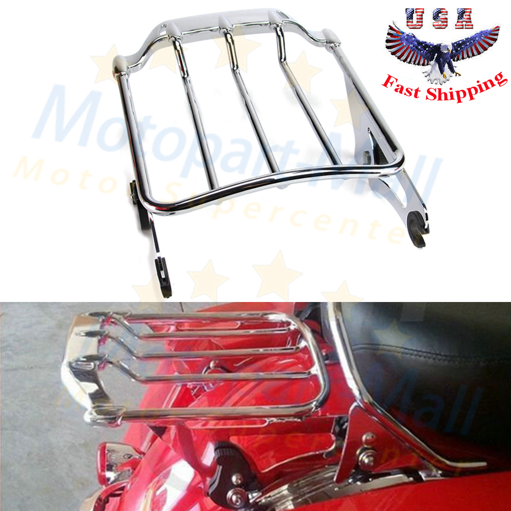 Detachable Two Up Luggage Rack For Harley Touring Street Glide Road Glide 09-17