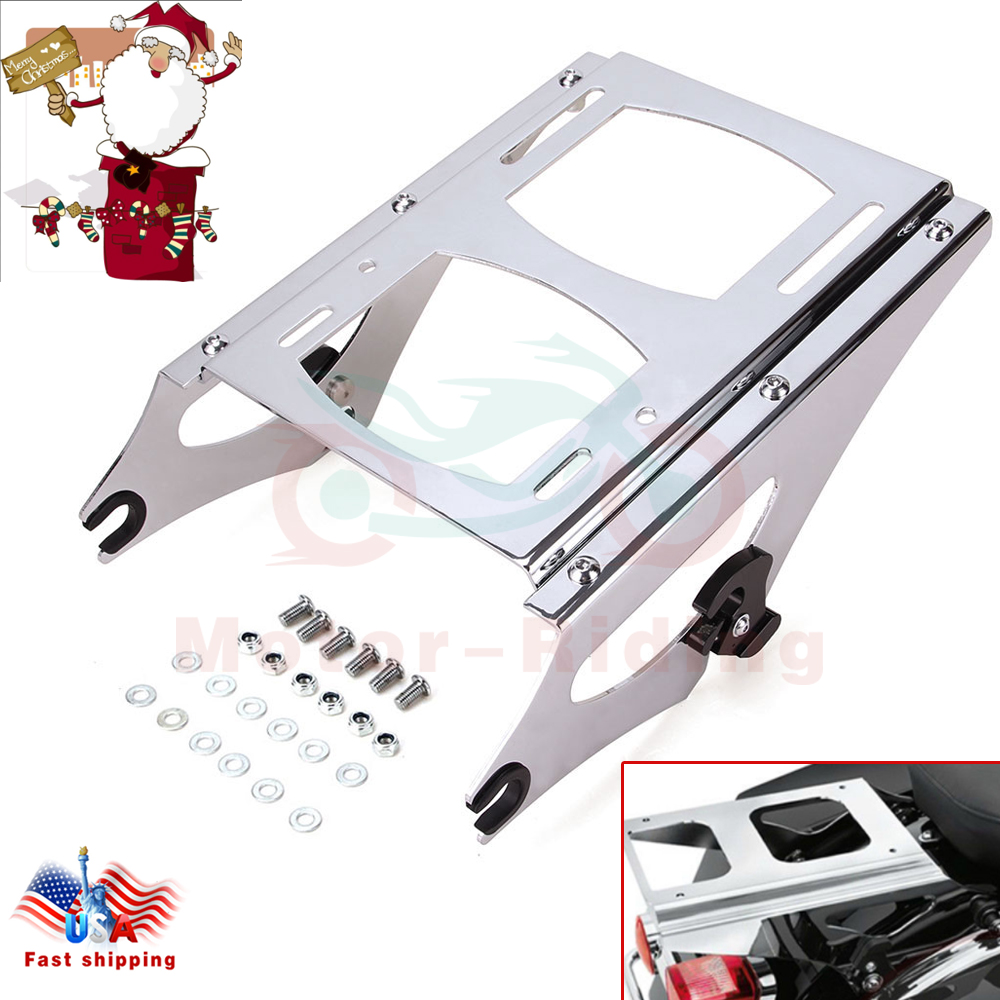 09-13 Harley Touring Detachable Two Up Mounting Rack W// 4 point docking hardware
