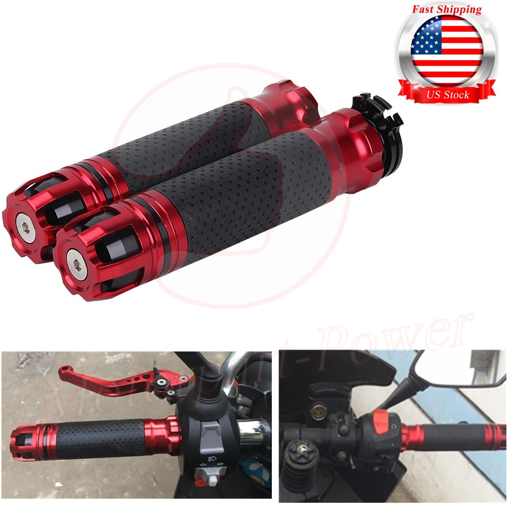 Pair 7//8/'/' Universal Motorcycle Throttle CNC  Rotatable Handlebar Hand Grips