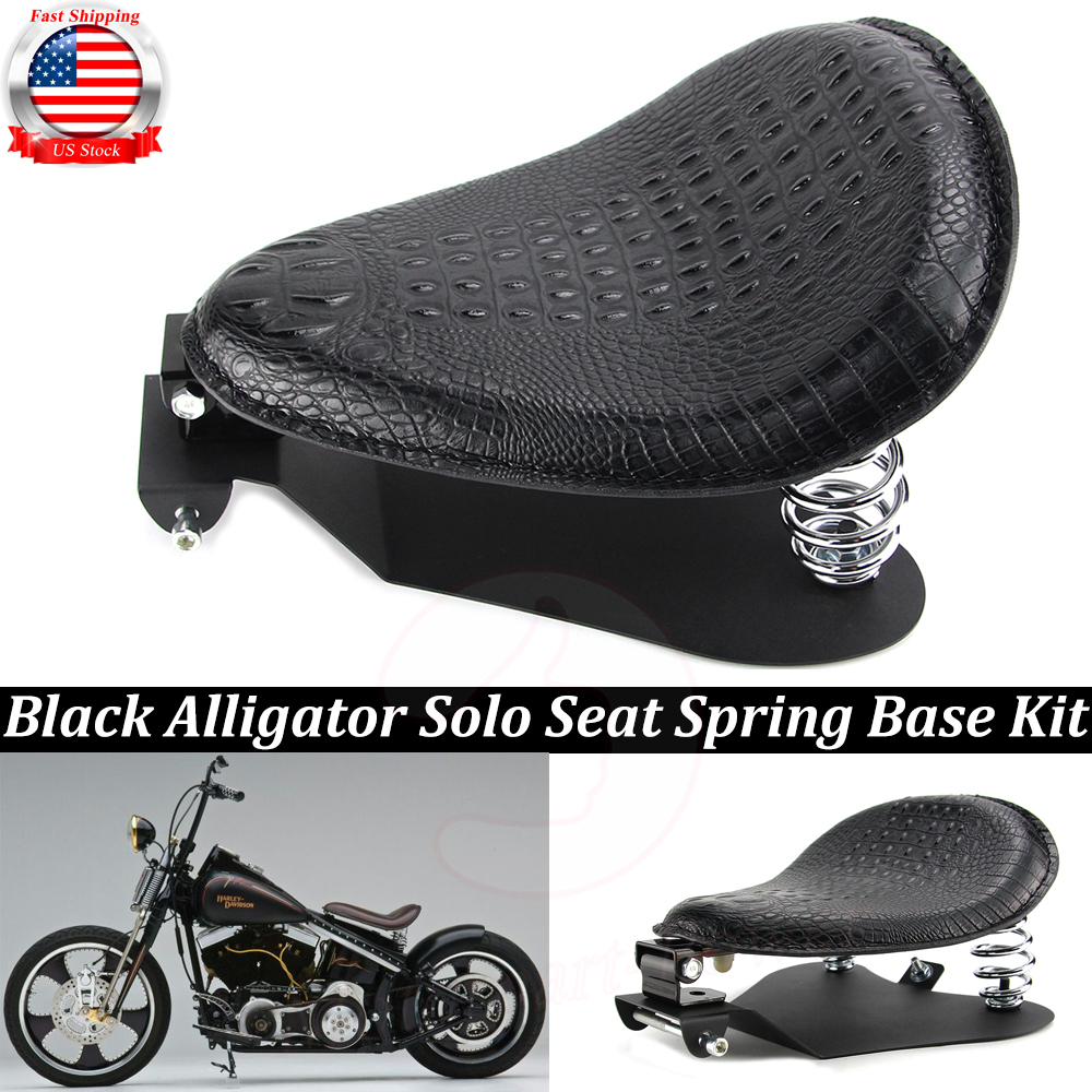 Artificial Leather Solo Driver Seat Spring Bracket Kit For Harley Chopper Bobber