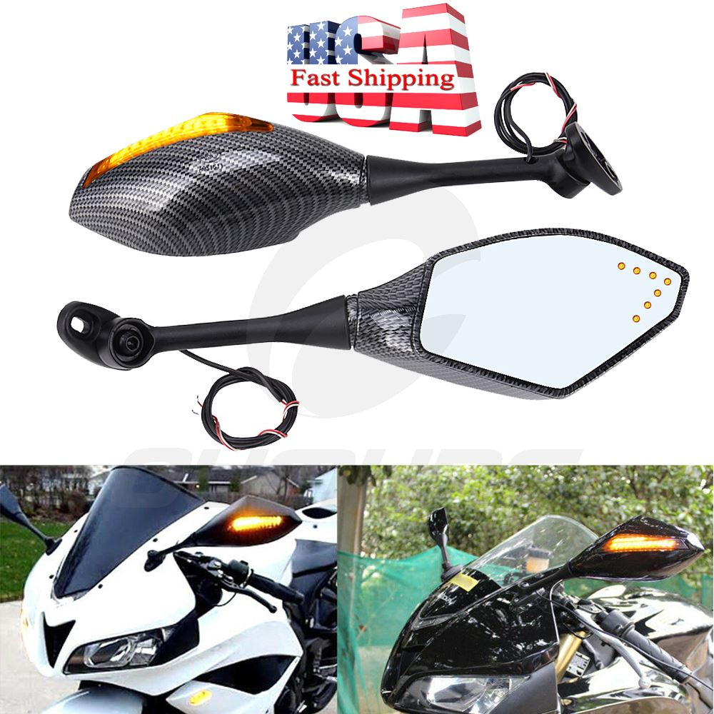 Turn Signal Integrated Mirrors Led Light For Honda