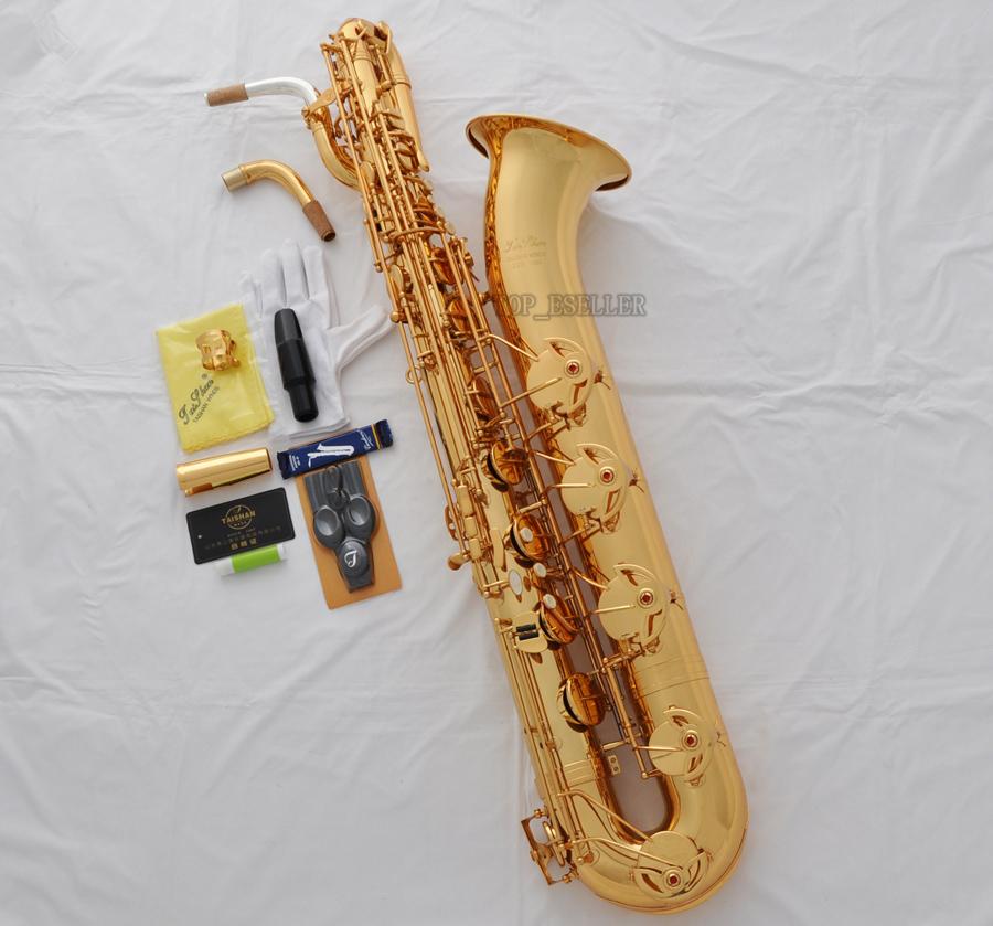 Professional TAISHAN Satin Nickel Baritone Saxophone