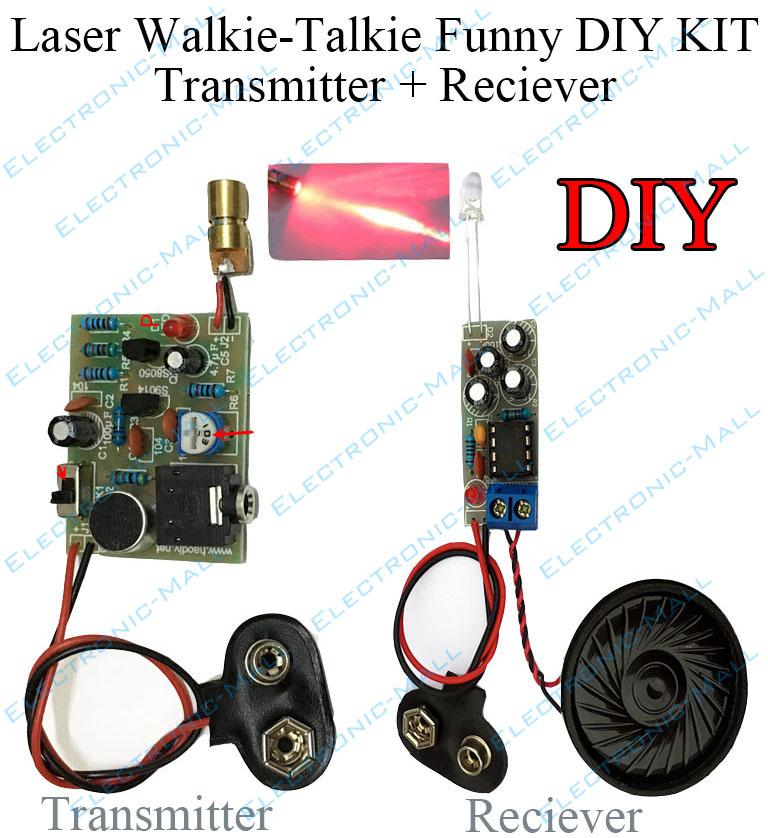 2 Set Laser Infrared Wireless Two-channel Audio Transmission Transceiver DIY Kit