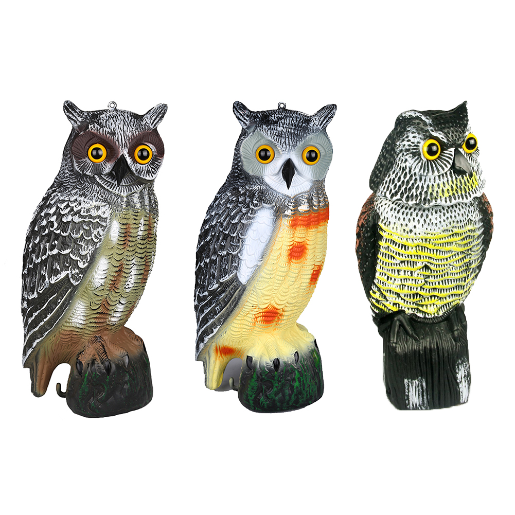 Exceptional Owl Wind Action Rotating Moving Head Ornament Garden Deter Bird Pest Animal