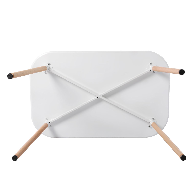 Esstisch Weiß mit 4 Stühlen Küchentisch Stühle Retro Esszimmertisch 110x70cm Neu