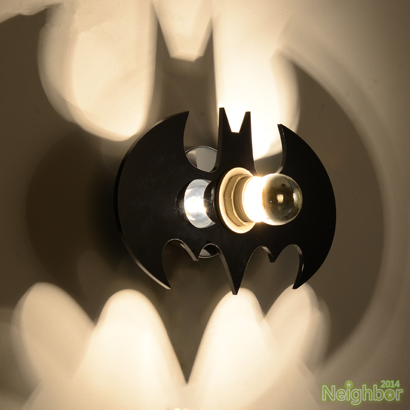 Projective Black Bat Shadow Led Wall Lamp Sconce Light For Kid S Bedroom