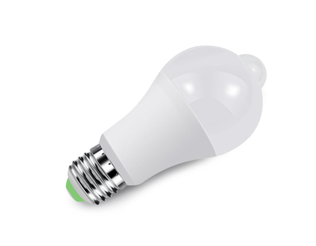LED Motion Sensor Induction Light Bulb Stairs Corridor Night Lamp E27 7W 10W 12W
