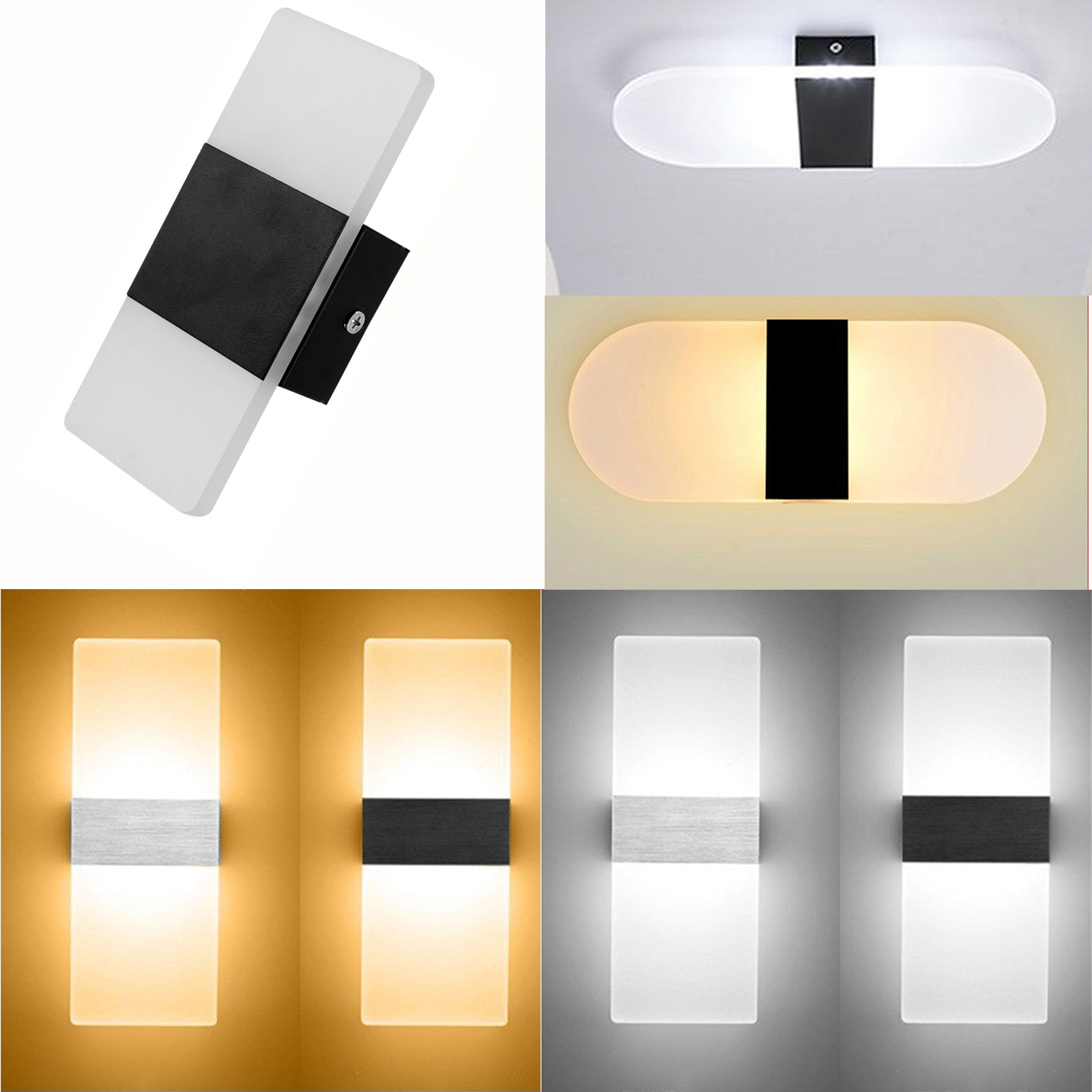 Details about modern led wall lights cube sconce fixtures lighting indoor outdoor decor ss953