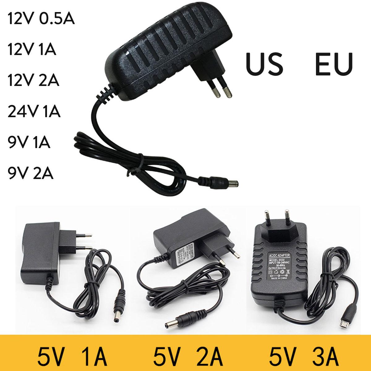 Details About Ac100 240v Lighting Transformers 24v 9v 5v 12v 1a 2a Supply For Led Strip