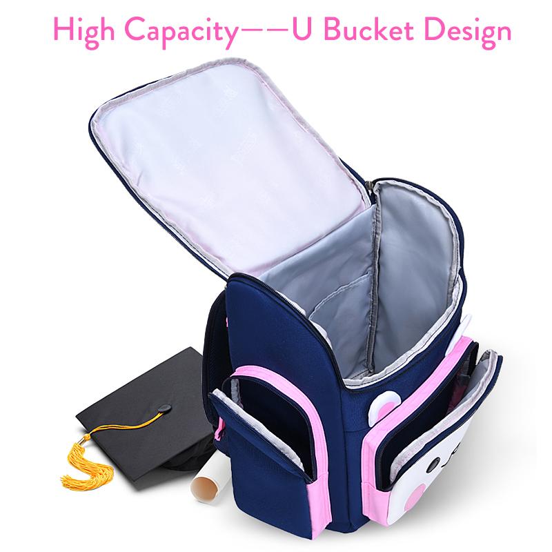 Cute Pupil Student Backpack Boys Girls Shoulder Bag Bunny Little Bear Schoolbag