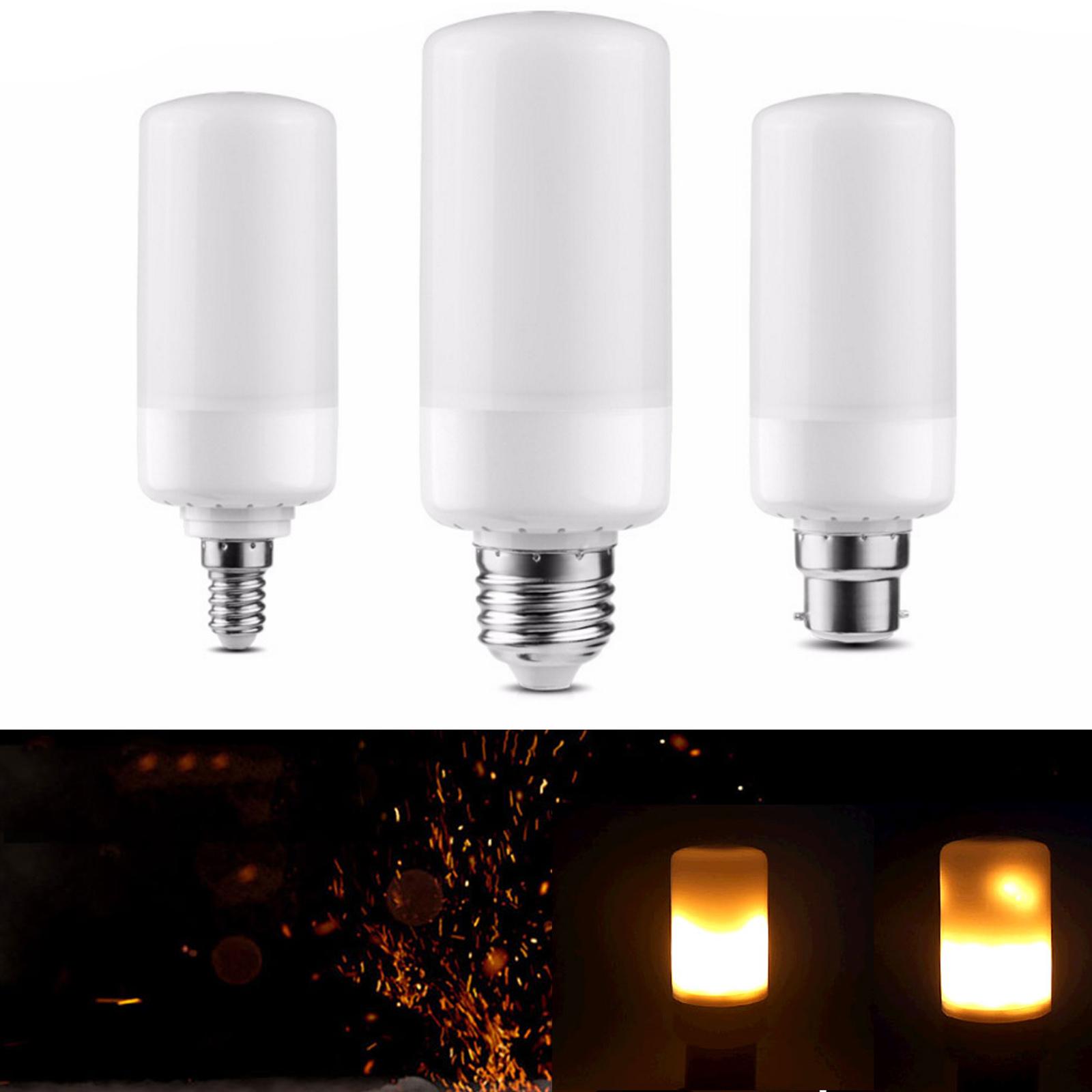 LED Flame Effect Simulated Flicker Nature Fire Bulb Light Decor E27,B22,E14 Lamp