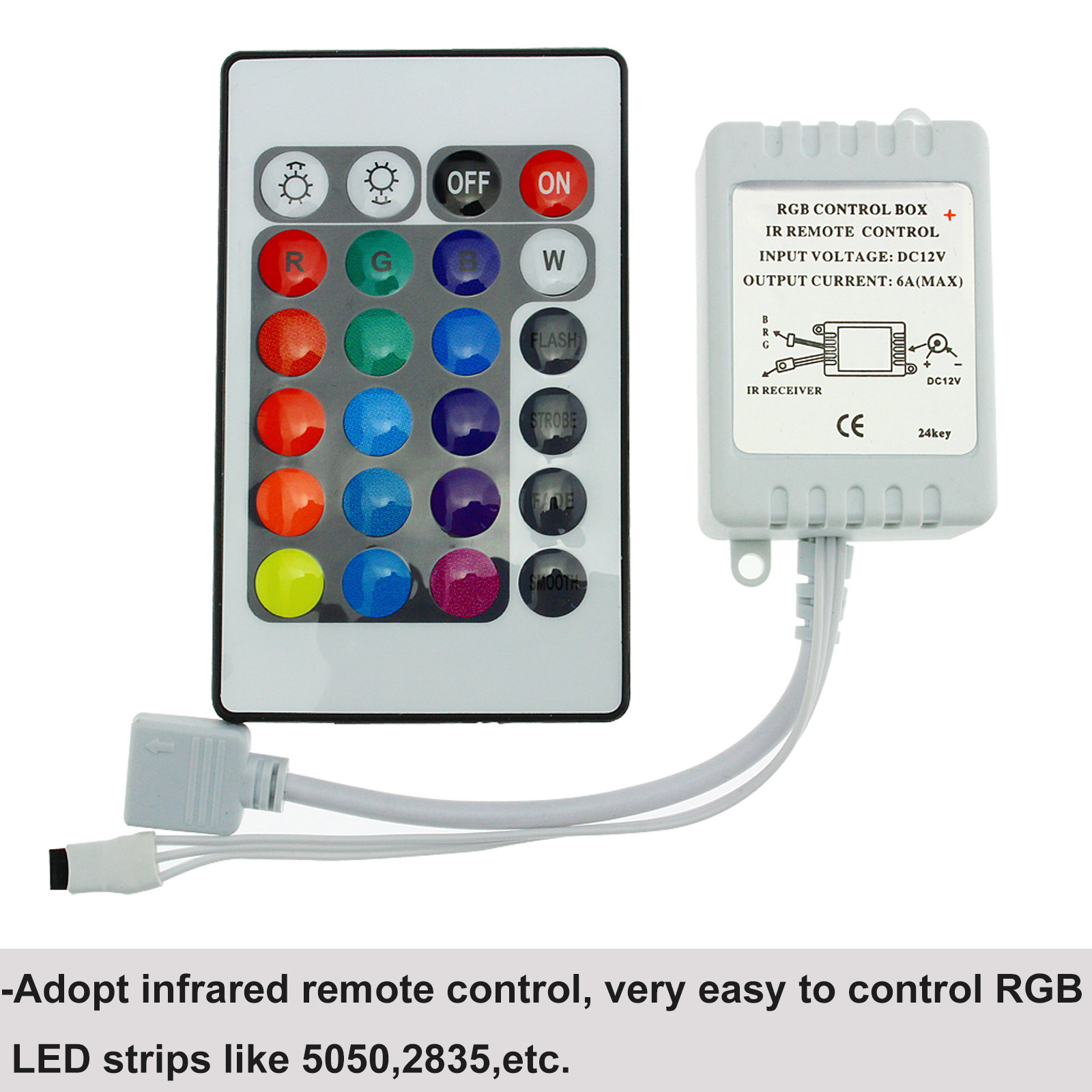12v 24 Key Ir Remote Controller With Box For 3528 5050 Smd Rgb Led Circuit Series 5b15dledcircuitjpgd Strip Lights
