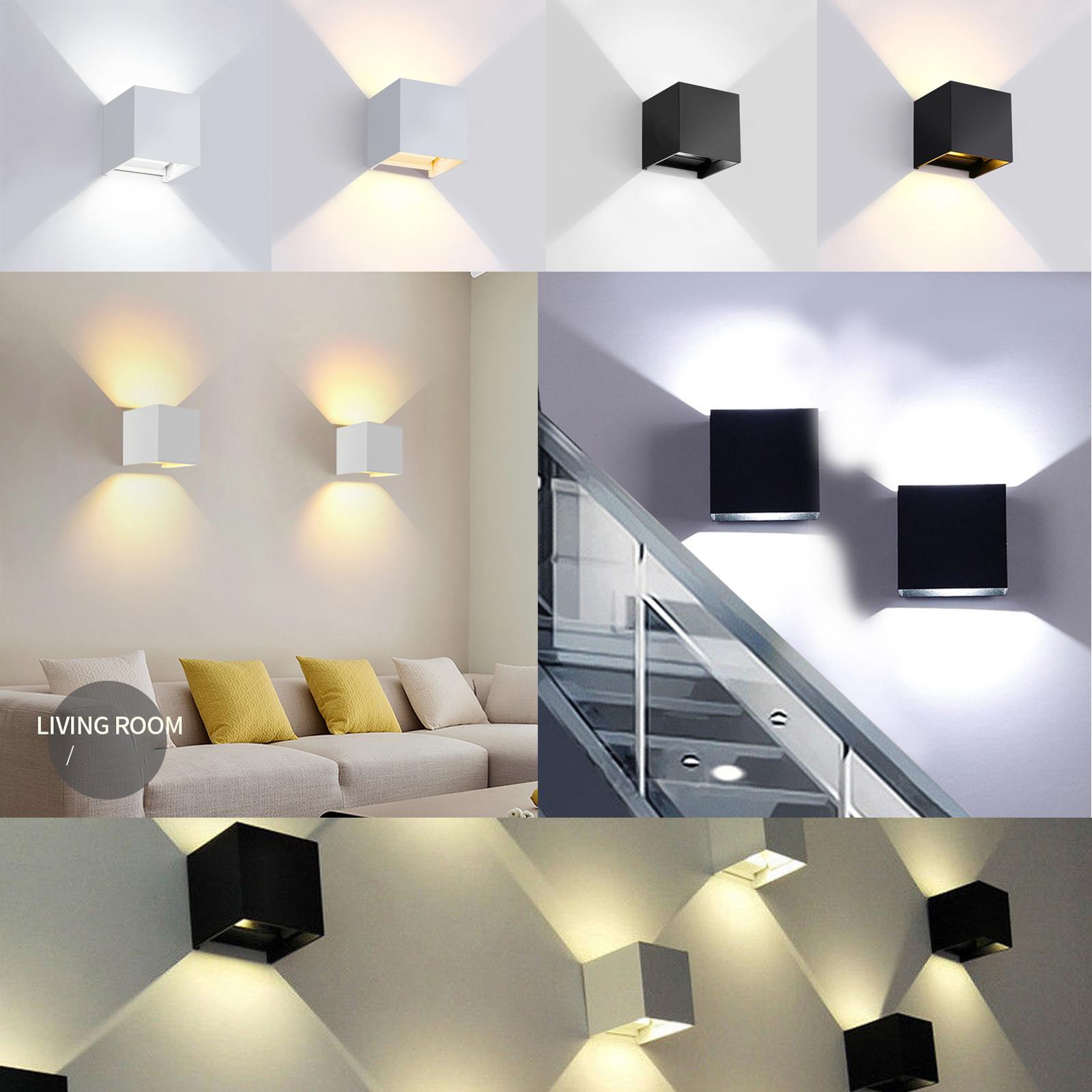 LED esterno casa Lampada da parete nero Up /& Down Faretti Giardino Lampada Outdoor