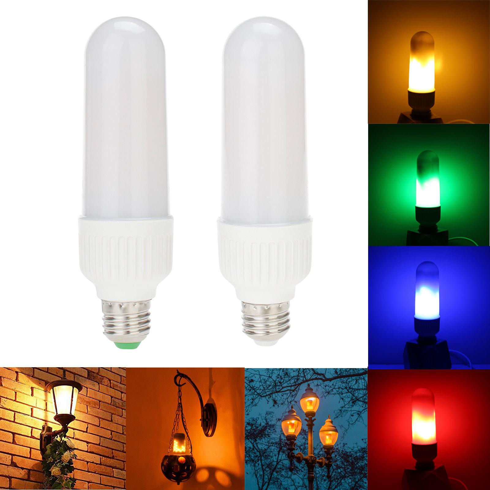 E26//E27 B22 E12 E14 LED Bulb Flicker Flame Fire Effect Simulated Light Xmas Lamp