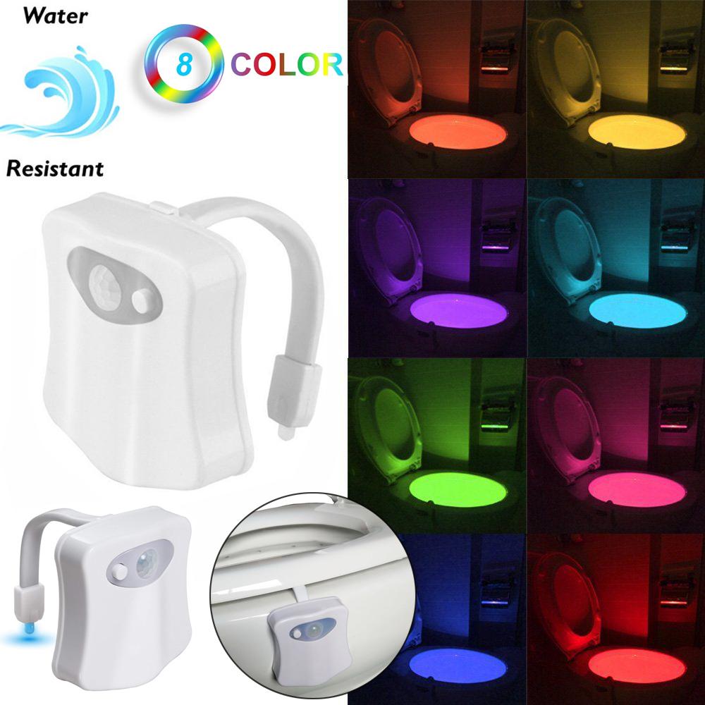 Sensor Movimiento Led 8 Colores Inodoro Bol Noche Luz Asiento Niños Baño Seguro Ebay