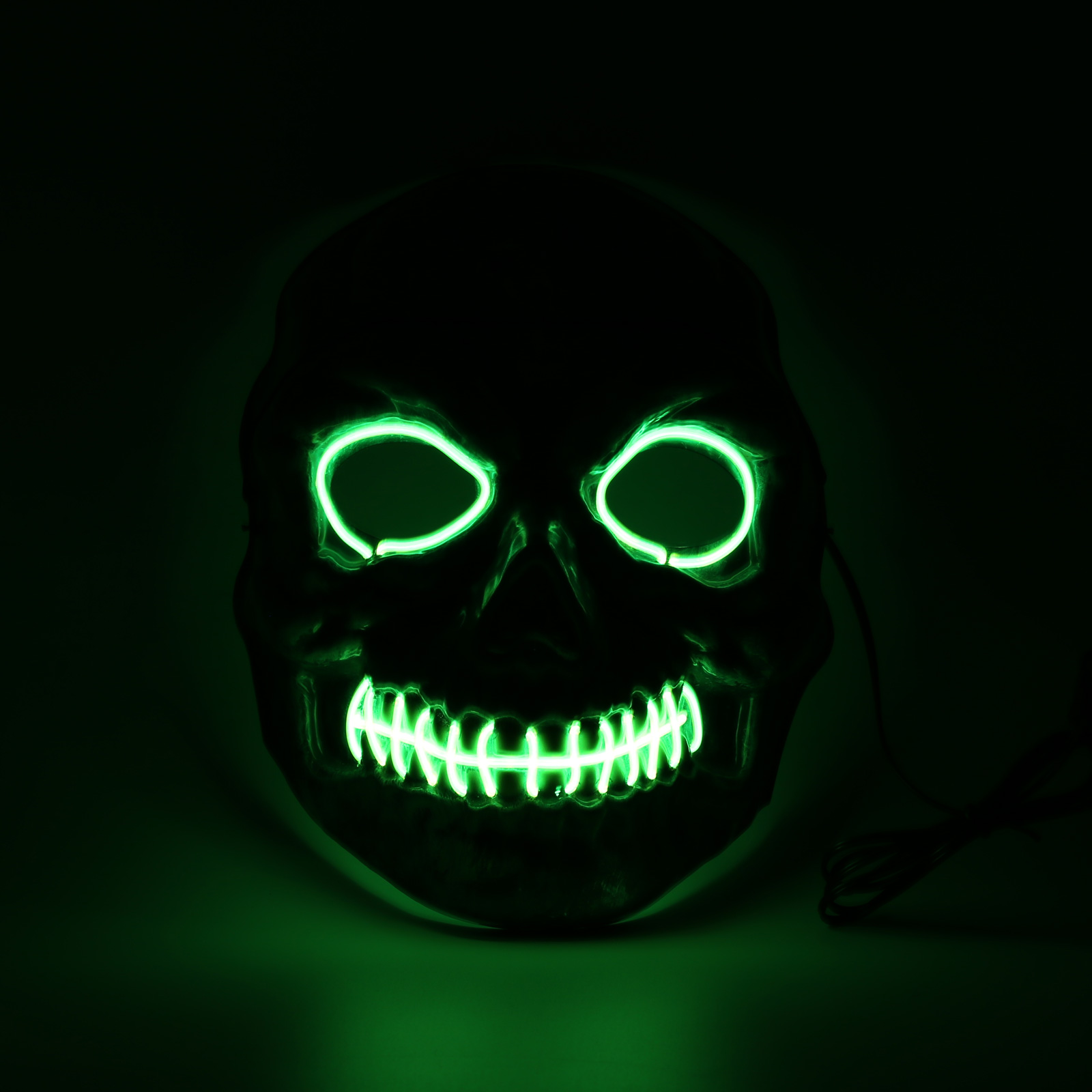 El Wire Light Up LED Mask Neon Rave Horrific Cosplay Party Halloween ...