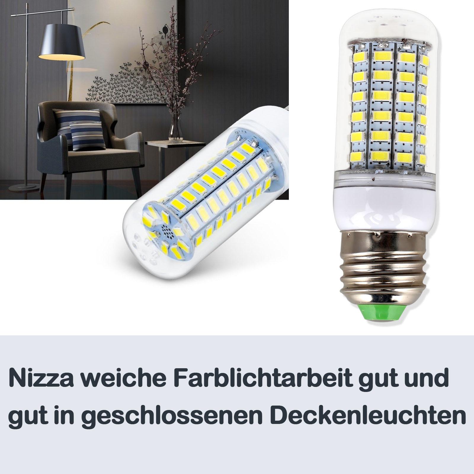 led birnen gl hbirne e27 e14 warmwei kaltwei neutralwei 5730 smd 220v lampe ebay. Black Bedroom Furniture Sets. Home Design Ideas