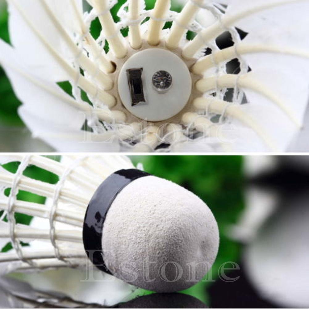 6pcs Fine Sporting Soft Plastic Badminton Shuttlecock White T7Y3 2X
