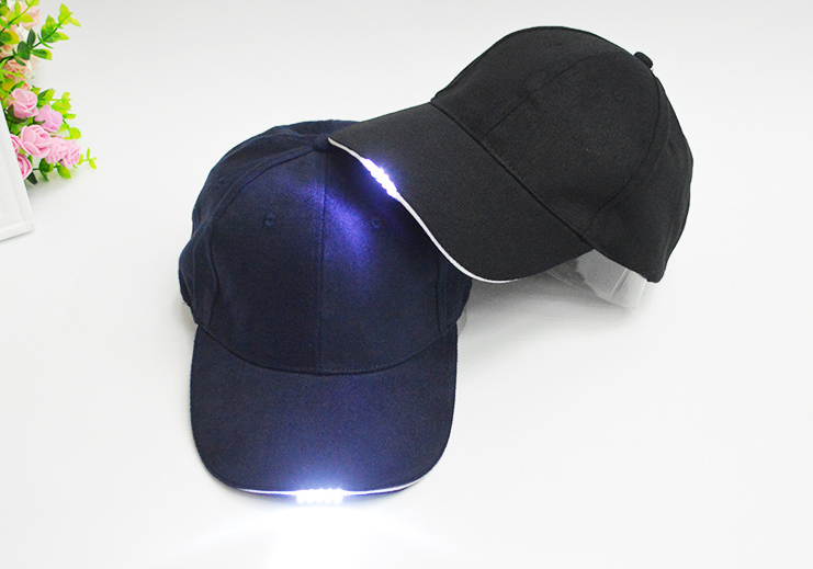 Adjustable Neutral Baseball Cap with 5LED Light Hat Outdoor Sport Hiking Camping