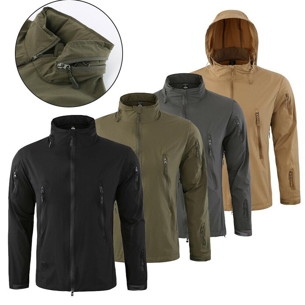 HOT Sale COMBAT Waterproof Tactical Soft Shell Mens Jacket Coat Army Windbreaker