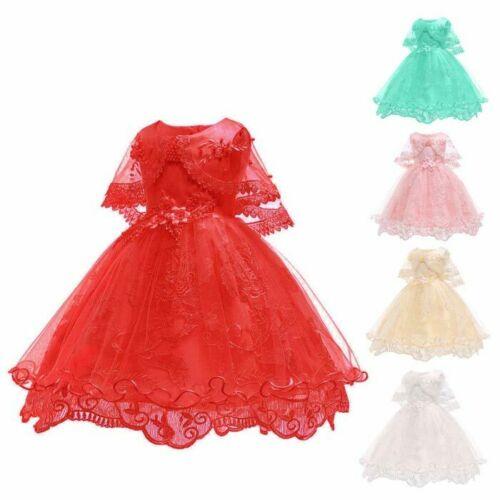 Dresses kid bridesmaid princess baby wedding flower dress girl tutu formal party