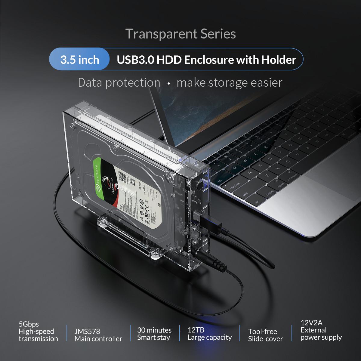 12tb Sata 3 5 U0026quot  Hdd Usb 3 0 Transparent Hard Drive