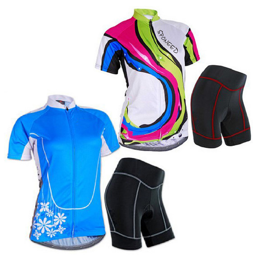 Details about Bicycle Jerseys Sets Womens Cycling Shorts with Padding Girls  Bike Sport Wear 6536aee6c