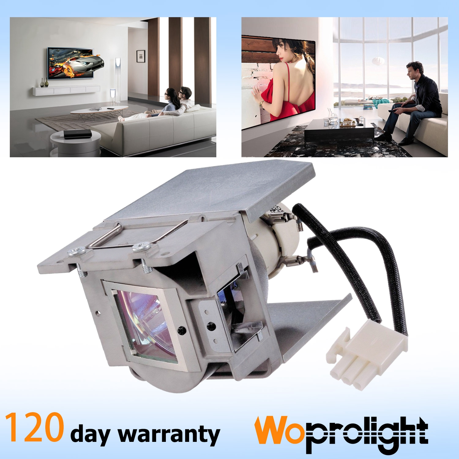 WoProlight 5J.JEA05.001 Original Replacement Projector lamp for BENQ MH741,Only OEM Bare Bulb
