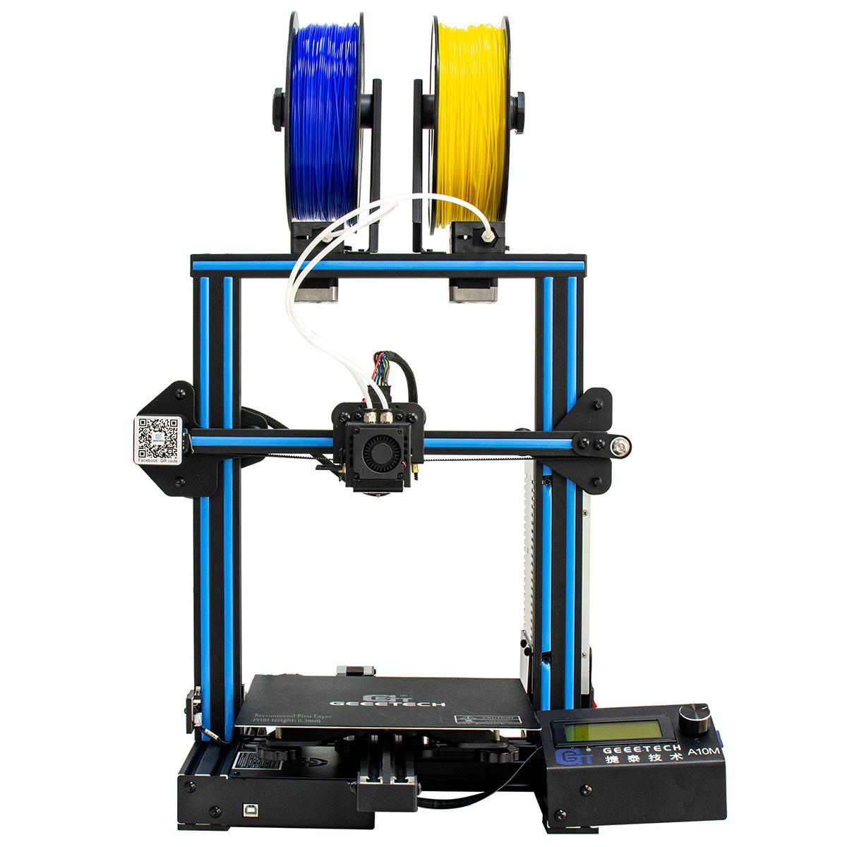 Geeetech Acrylic Prusa I3 Pro C Dual Extruder MK8 3D Printer LCD2004 US Seller