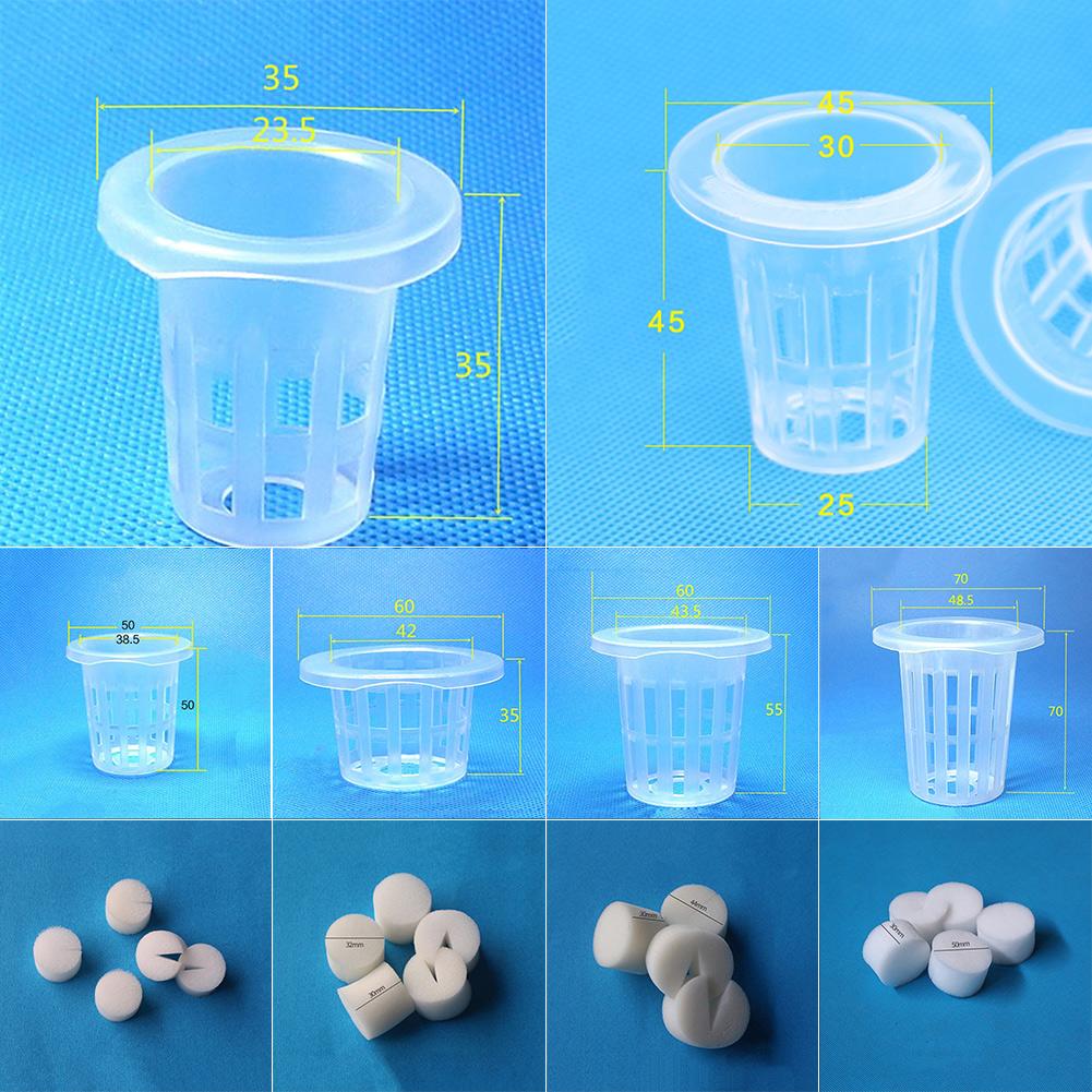 10 Clone Cloning Collar Foam Insert Plant Hydroponic 10 Mesh Pot Net Basket