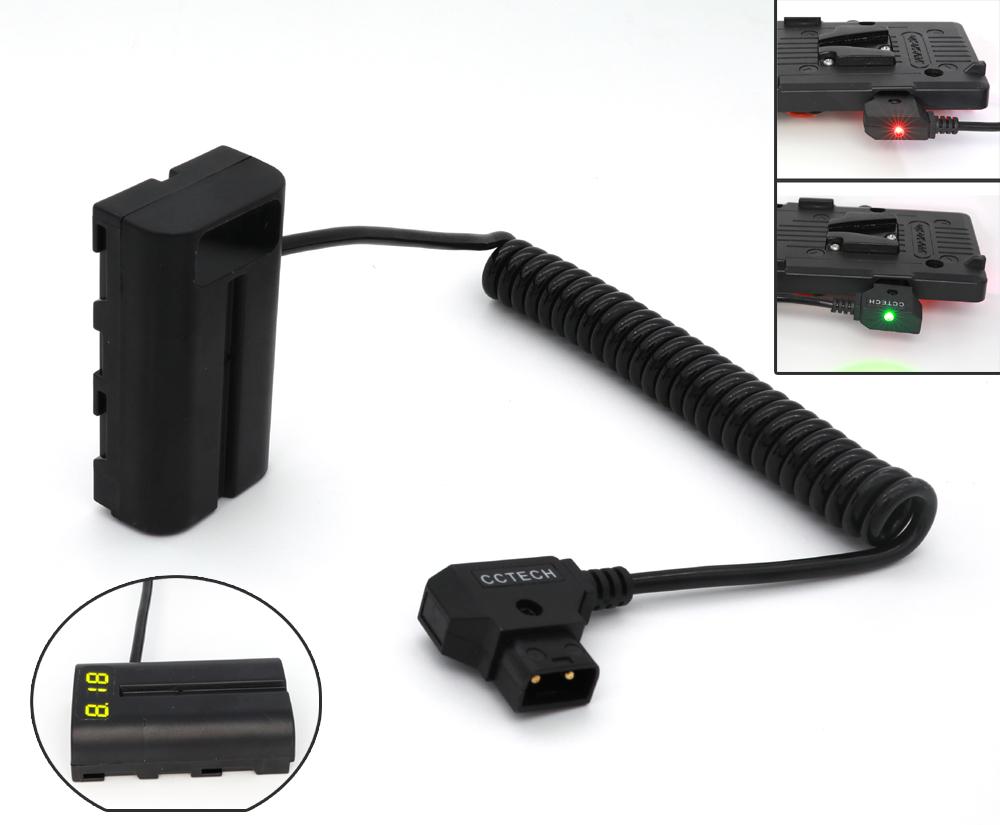 Batería LP-E6 ficticio a D-tap Cable De Alimentación Fr 502 702 Monitor Canon 5D Small 6D 7D