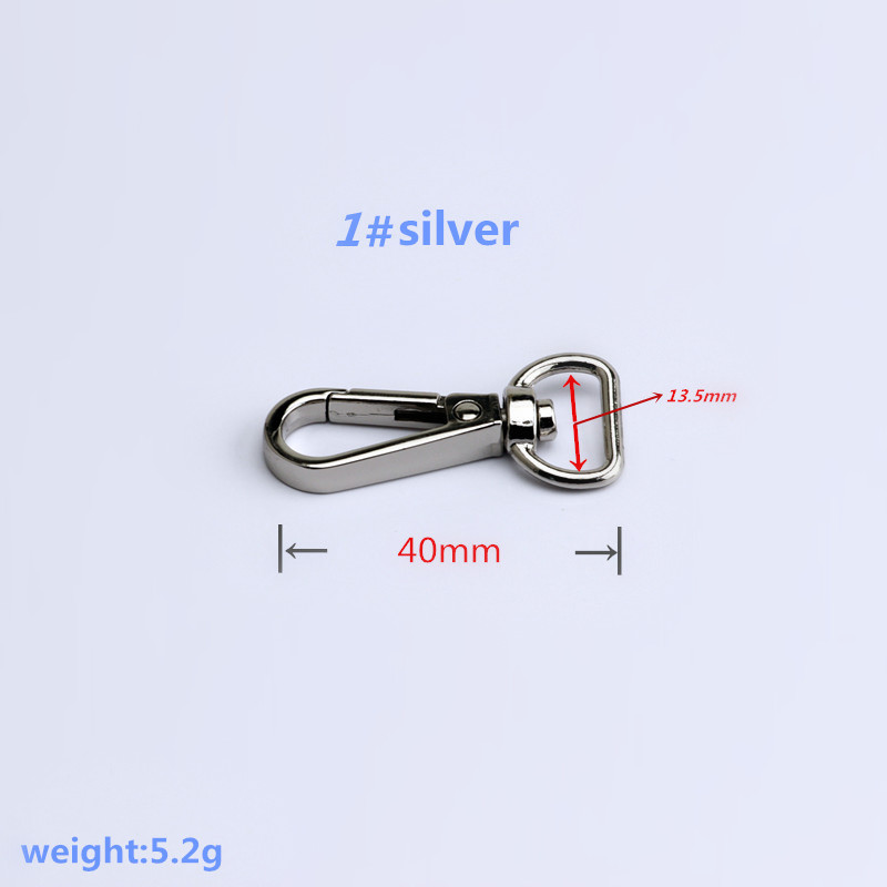 10-500pcs Clasps Lobster Swivel Trigger Clips Snap Hook Bag Clasps plated hook
