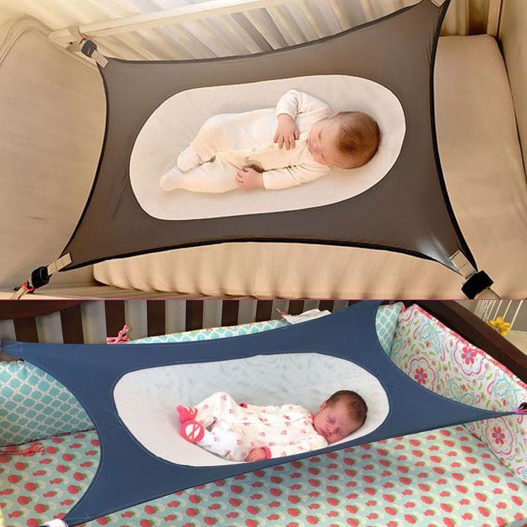 neu baby h ngematte f r neugeborenes kleinkind bett elastic abnehmbare krippe ebay. Black Bedroom Furniture Sets. Home Design Ideas